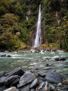 thunder creek falls haast pass haast new zealand - Google Search