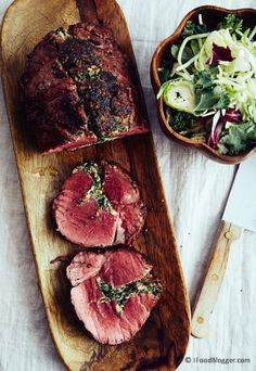 Super easy beef tenderloin recipe and very tasty. Tenderloin is stuffed with spinach and walnuts and roasted in the oven or smoked on the grill.