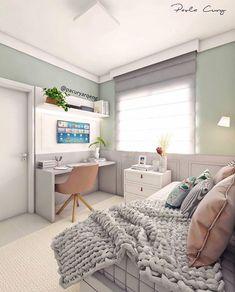 """Não sabe por onde começar e fica se perguntando como montar um home office? Confira essas 5 dicas! Se você gosta de tons mais claros, e um estilo """"Pinterest""""... #homeofficedecor #homeoffice #diyhomeoffice Home Office Decor, Home Decor, Corner Desk, Furniture, Rooms, Group, Board, Closet, Instagram"""