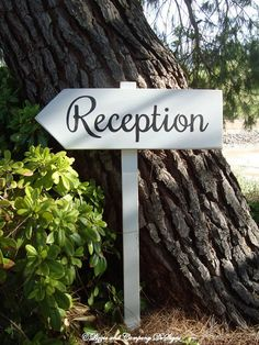ReCePTioN SiGn - Rustic Vintage Wedding Sign - Directional Wedding Arrow SIGN by lizzieandcompany, etsy