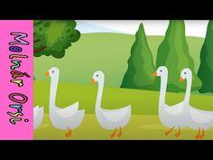 Száz liba egy sorba - Gyerekdal - YouTube