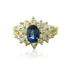18k Gold Diamond Sapphire Ring Available on our August 11th Auction @ hamptonauction.com