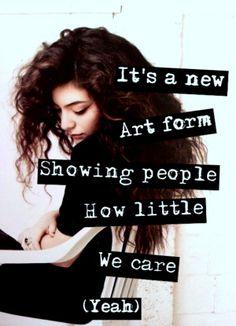 Lorde Lyrics - TENNIS COURT via   http://trampledhibiscus.tumblr.com/