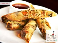 #Crispy and #Spicy #Springrolls at De' Villa Garden Restro Lounge  #Chinese #surat