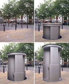Urilift - the most private public toilet in the world