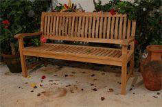 Beautiful classic teak outdoor bench