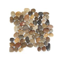 These stunning polished multi-colored pebble tiles are perfect for any project. They are appropriate for both outdoor and indoor applications including pool decks, patios, landscaping, fountains, kitchen backsplashes and bath or shower floors.