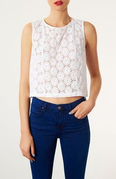 Always on trend: Red Lip, White Tank, Blue Jeans. @nordstrom