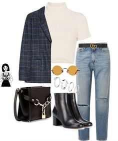 Mode Tutorial and Ideas Look Fashion, Korean Fashion, Fashion Outfits, Polyvore Outfits, Fall Winter Outfits, Autumn Winter Fashion, Look Girl, Mode Streetwear, College Outfits
