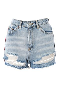 cf9194979c1 MOTO American Flag Splice Mom Shorts