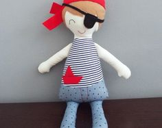 Boneco - Pirata Jack  Boneco lúdico, descolado, moderninho.  Boneco - Boneco de Pano - Pirata - Boneco Pirata - Dolls - Rag dolls - fabric dolls