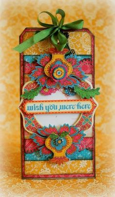 "Made this card for Graphic 45 with their stunning ""Bohemian Bazaar"" collection!"
