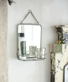 wall mirror  (make with shower caddy and mirror0