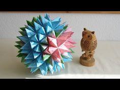 Diy Origami, Origami 3d Star, Origami Modular, Origami And Kirigami, Oragami, Origami Flowers Tutorial, Flower Tutorial, Diy And Crafts, Paper Crafts