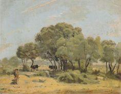 Les oliviers en Espagne, huile sur toile de Ferdinand Hodler (1853-1918, Switzerland)