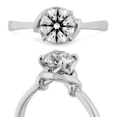 Hearts On Fire Optima Twist Platinum Diamond Solitaire Engagement Ring