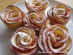 las recetas del marqués de muchabarba: ROSAS DE HOJALDRE Y MANZANA