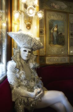 """Classic Pure"" by von Gerhard M. Busch - Reveler in the Winter Carnival in Venice"