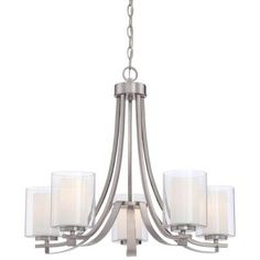 Minka Lavery Parsons Studio 5-Light Brushed Nickel Chandelier-4105-84 - The Home Depot