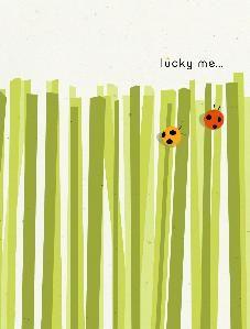 Get some ladybug stickers - fun spring art.  I'm seeing preschool here.