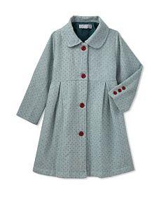 Dot Overcoat (polka)  #Velvet&Tweed