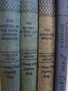 The first Nancy Drews I read were the 1950s editions!  --where I learned about the smell of old books.
