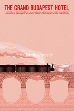 The Grand Budapest Hotel 12x18 inches movie by ClaudiaVarosio