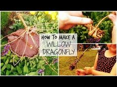 Learn how to weave a Willow Dragonfly with Willowtwister Hanna - YouTube