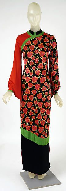 Dress, with tear drop cut out in the back, Designer: Giorgio di Sant'Angelo (American, born Italy, 1933–1989) Date: holiday 1971 Culture: American Medium: synthetic