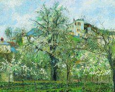 Camille Pissarro - Kitchen Garden with Trees in Flower, Pontoise