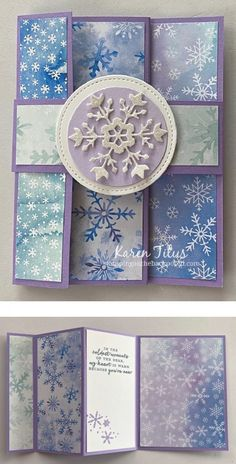 Tri Fold Cards, Fancy Fold Cards, Folded Cards, 3d Cards, Beautiful Handmade Cards, Unique Cards, Creative Cards, Fall Cards, Winter Cards