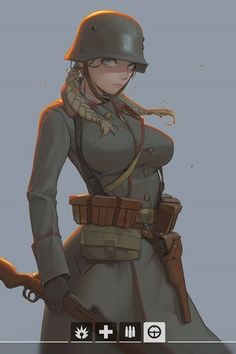 The perfect anime girl doesn't exi. Female Character Design, Character Concept, Character Art, Concept Art, Fantasy Characters, Female Characters, Anime Characters, Anime Military, Military Girl