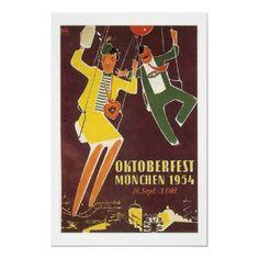 German Oktoberfest 1954 poster by edsimoneit