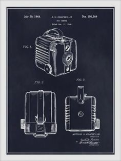 BOX BROWNIE PATENT Blueprint Digitally Restored Print Poster Sizes NEW EXCLUSIVE