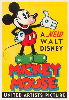 mudwerks:  (via Mickey Mouse Stock Poster (United Artists, 1932). One Sheet (27"
