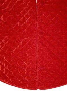 Quilted Velvet Tree Skirt, Red