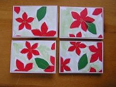 Easy Tissue Paper Cards for Christmas