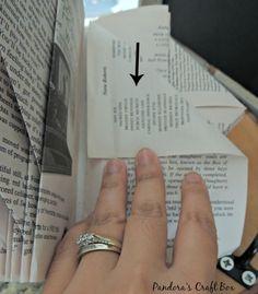 book folding, book folding origami, book folding art tutorial