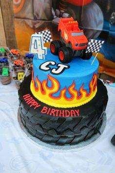 Blaze birthday cake