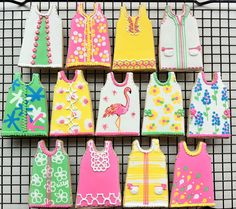 Lilly Pulitzer Shift Dress Cookies