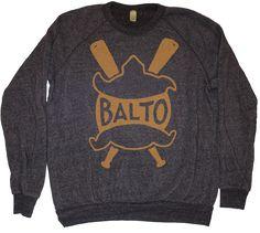 Baltimore Terrapins Baseball Sweatshirt 1914 - black