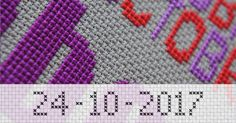 Make a personal cross stitch pattern with the Cross Stitch Writer.  http://www.stitchpoint.com/eng/tool/alph/cross-stitch-writing-tool.php
