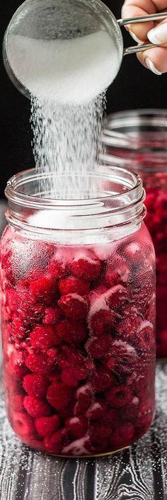 Homemade Raspberry Liqueur Elixer