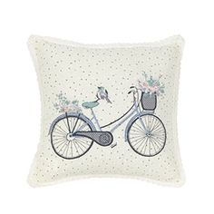 Primark - Bicycle floral cushion