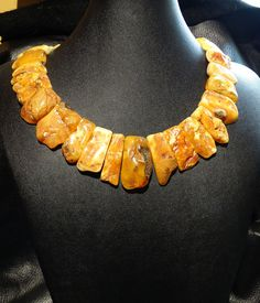 Baltic Butterscotch Amber Collar Necklace Egg by ElegantArtifacts