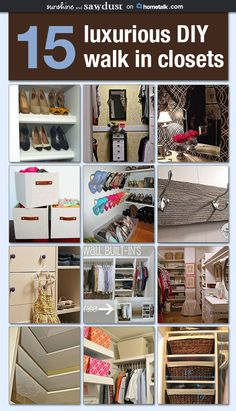 This is every girl's dream come true--DIY walki-in closets <3
