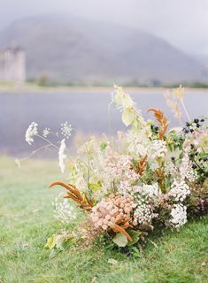 Photography: Lilli Kad Photography - undefined Floral Design: Alice Beasley - undefined Read More on SMP: Aisle Flowers, Wedding Ceremony Flowers, Wedding Ceremony Decorations, Ceremony Backdrop, Floral Wedding, Wedding Aisles, Wedding Backdrops, Wedding Ceremonies, Hanging Flowers Wedding