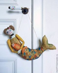 They just want to hang out in a different aquarium! Fabric Dolls, Fabric Art, Fabric Crafts, Mermaid Dolls, Mermaid Art, Doll Maker, Soft Sculpture, Handmade Toys, Softies