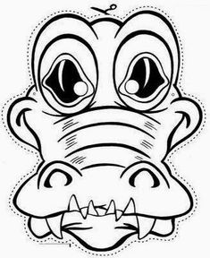 Free printable coloring pages for print and color, Coloring Page to Print , Free Printable Coloring Book Pages for Kid, Printable Coloring worksheet Coloring Pages To Print, Free Printable Coloring Pages, Coloring Book Pages, Alligator Crafts, Printable Masks, Animal Masks, Color Activities, Jungle Animals, Animal Crafts