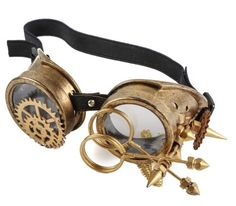 Steampunk-Cosplay-Party-Goggles-Punk-Goth-Aviator-Rave-Cyber-Antique-Gold